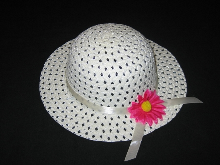 "NEW ""IVORY DAISY"" Dress Up Party Girls Easter Straw Hat Clothes Toddler Tea Party"