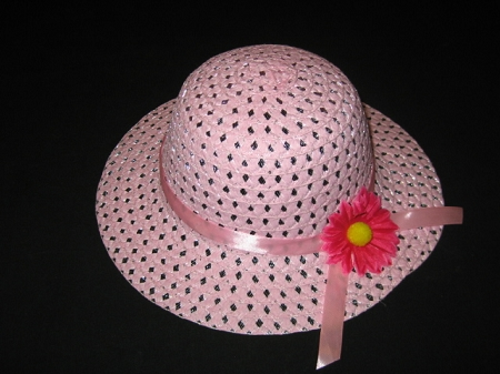 "NEW ""LIGHT PINK DAISY"" Dress Up Party Girls Easter Straw Hat Clothes Toddler Tea Party"