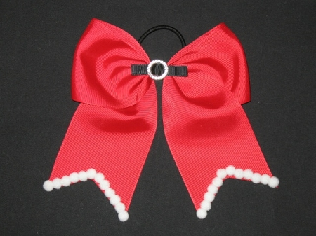 "NEW ""CHRISTMAS Santa Claus"" Cheer Bow Pony Tail 3 Inch Ribbon Girls Cheerleading Dance Practice Football Games Uniform Holiday"