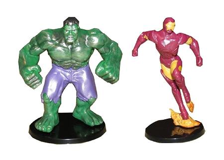 Avengers Spiderman CAKE TOPPER Hulk Captain America Iron Man 6