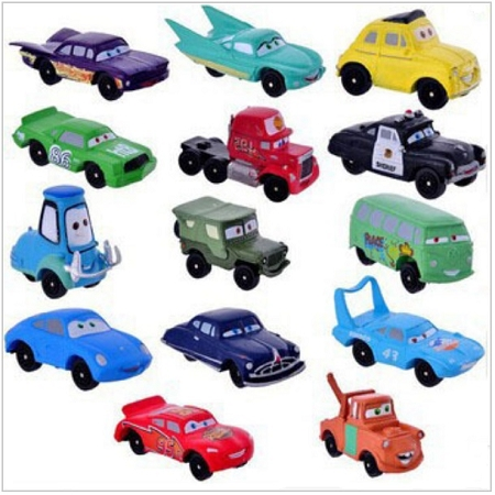 Cars Cake Topper Lightning Mcqueen Sally Doc 14 Mini Figure Set