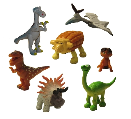 Good Dinosaur CAKE TOPPER Arlo Spot Forrest Thunderclap 7 Mini Figure Set Birthday Party Cupcakes Figurines Disney * FAST Shipping * Toy Doll Set