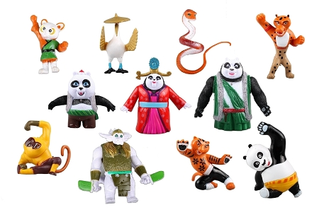 Kung Fu Panda 3 CAKE TOPPER Po Li Mei Mei Crane Monkey Viper 11 Figure Set Birthday Party Cupcakes Figurines Disney * FAST Shipping * Toy Doll Set