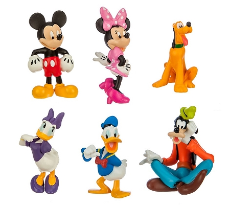 Mickey Mouse CAKE TOPPER Minnie Mouse Daisy Donald Pluto Goofy 6 Figure Set Birthday Party Cupcakes Figurines Disney * FAST Shipping * Toy Doll Set