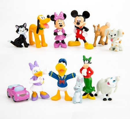 4372a9cd10f 12pc Mickey Mouse Clubhouse MINI CAKE TOPPER Minnie Mouse ...