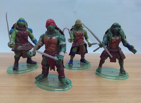 4pc Ninja Turtles CAKE TOPPER Michelangelo Leonardo Donatello Raphael 4 Figure Set Birthday Party Figurines tmnt * FAST Shipping * 4 Inches Toy Doll Set