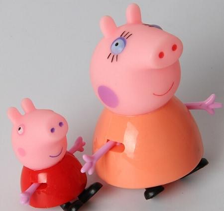4pc Peppa Pig Cake Topper George Mummy Daddy 4 Figure Set Birthday