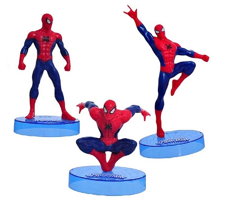 Ultimate Spiderman CAKE TOPPER Superhero 3 Figure Set Birthday Party Cupcakes Figurines Marvel Comics * FAST Shipping * Spidey Toy Doll Set