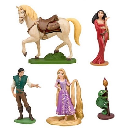 Tangled Rapunzel CAKE TOPPER Flynn Rider Pascal Horse 5 Figure Set Birthday Party Cupcakes Figurines Disney * FAST Shipping * Toy Doll Set