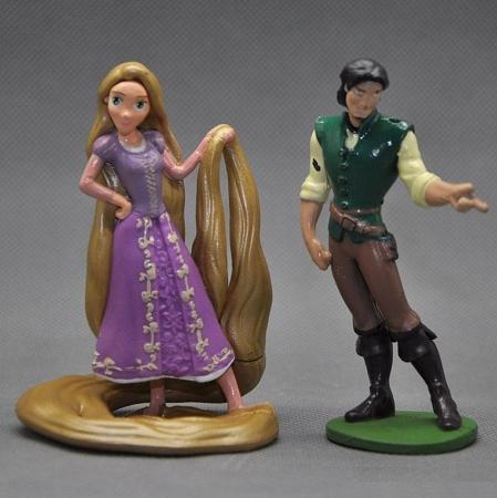 Tangled Rapunzel CAKE TOPPER Flynn Rider Pascal Horse 5 Figure Set