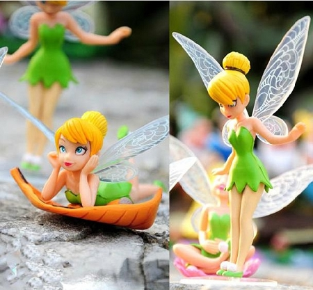 Tinkerbell Fairies CAKE TOPPER Fairy Rosetta Silvermist 6 Figure Set