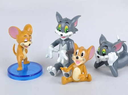 Tom Jerry CAKE TOPPER Mouse Cat Spike 9 Figure Set Birthday Party