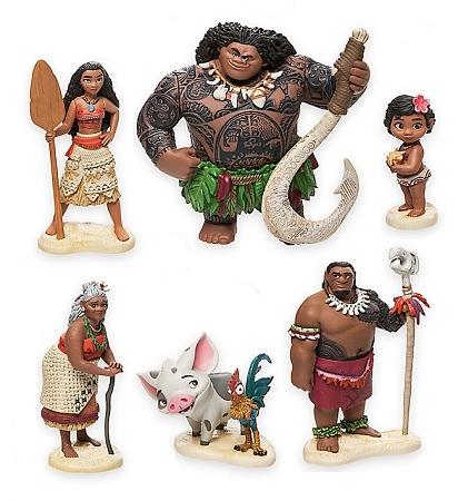 Moana Cake Topper Maui Hei Hei Pua 6 Figure Set Birthday