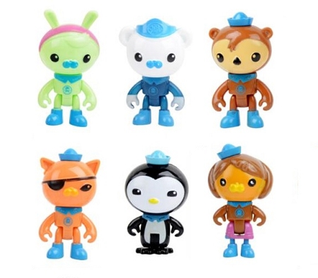 Octonauts CAKE TOPPER Captain Barnacles Peso Penguin Kwazii
