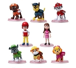 Paw Patrol CAKE TOPPER Ryder Katie Marshall Chase Skye Rubble Rocky Zuma 8 Figure Set Birthday Party Cupcakes Figurines * FAST Shipping * Toy Doll Set