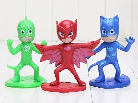 PJ Masks CAKE TOPPER Catboy Owlette Gekko Superhero 3 Figure Set