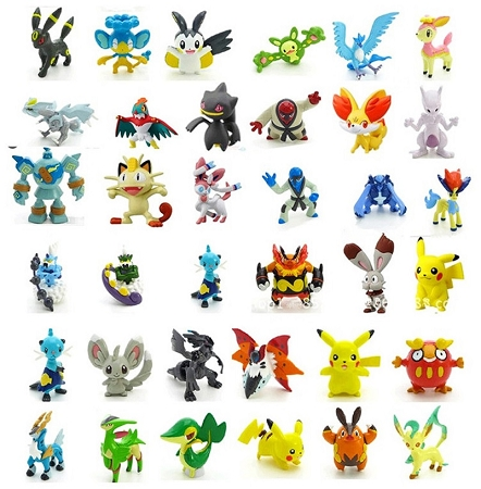24pc Pokemon Go Cake Topper Pikachu Miniature Figure Set Birthday