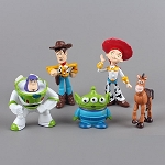 Toy Story CAKE TOPPER Woody Buzz Lightyear Jessie Bullseye 5 Figure Set Birthday Party Cupcakes Mini Figurines Disney * FAST Shipping * Toy Doll Set