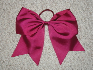 "NEW """"BURGUNDY"""" Cheer Bow Pony Tail 3 Inch Ribbon Girls Hair Bows Cheerleading"