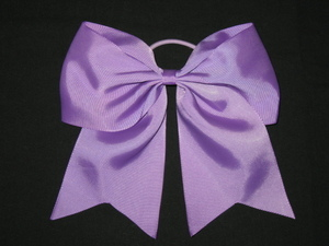"NEW """"LAVENDER"""" Cheer Bow Pony Tail 3 Inch Ribbon Girls Hair Bows Cheerleading"