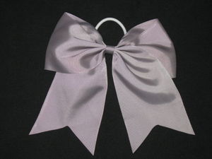 "NEW """"SILVER GRAY"""" Cheer Bow Pony Tail 3 Inch Ribbon Girls Hair Bows Cheerleading"