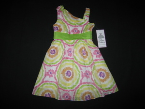 "NEW """"LIMEADE TIE-DYE"""" Dress Girls Summer Clothes 14 Spring Boutique Easter Beach"