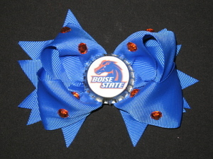 "NEW /""TENNESSEE Volunteers/"" University Girls Ribbon Hair Bow Rhinestone Clip NCAA"