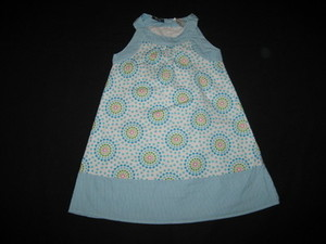 "NEW """"STARBURST BLUES"""" Dress Girls Clothes 4 Spring Summer Boutique Kids School"