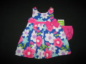 "NEW """"FLOWER WORD BLOOM"""" Dress Girls Clothes 3-6m Spring Summer Boutique Easter"