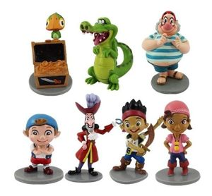 Jake & Neverland Pirates CAKE TOPPER Izzy Cubby Captain Hook 7 Figure Set Birthday Party Cupcakes Figurines Disney * FAST Shipping *
