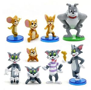 Tom & Jerry CAKE TOPPER Mouse Cat Spike 9 Figure Set Birthday Party Cupcakes Figurines * FAST Shipping * Toy Doll Set