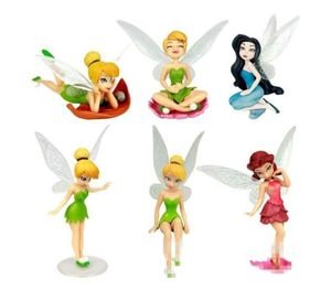 Tinkerbell Fairies CAKE TOPPER Fairy Rosetta Silvermist 6 Figure Set Birthday Party Cupcakes Figurines Disney * FAST Shipping * Toy Doll Set