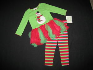 "NEW """"Frosty Snowman"""" Tutu Pants Girls Clothes 24m Christmas Winter Outfit Baby"