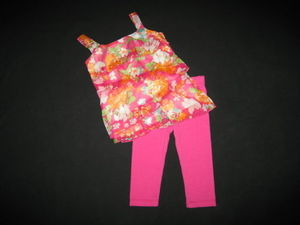 "NEW """"ISLAND ORCHID Fushia"""" Capri Pants Girls 3T Spring Summer Clothes Toddler"