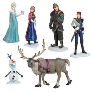 Frozen CAKE TOPPER Elsa Anna Olaf 6 Figure Set Birthday Party Cupcakes Figurines Disney * FAST Shipping * Toy Doll Set