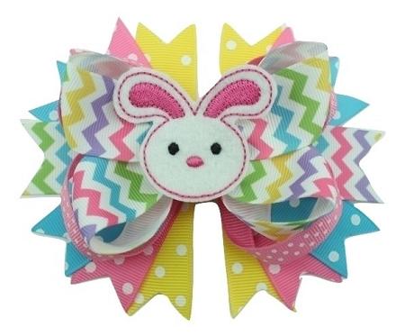 Easter Hair Bow Handmade Easter Bunny Boutique Hair Bow