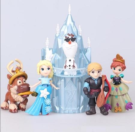 Castle Frozen CAKE TOPPER Elsa Anna Olaf 6 Figure Set Birthday