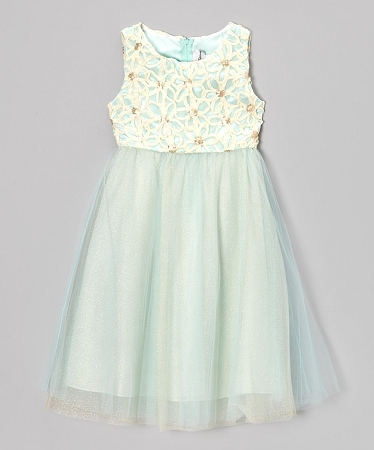 "NEW ""MINT & IVORY FLOWER"" Sequin Dress Girls 2T Fall Winter Clothes Holiday Boutique Christmas Pageant"
