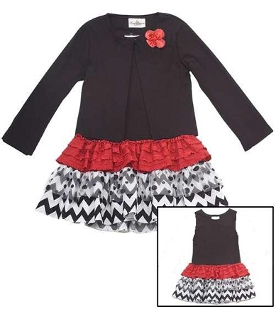 Rare Editions Christmas Dresses.New Black Red Chevron Cardigan Dress Girls 6x Clothes Boutique Christmas Holiday Rare Editions