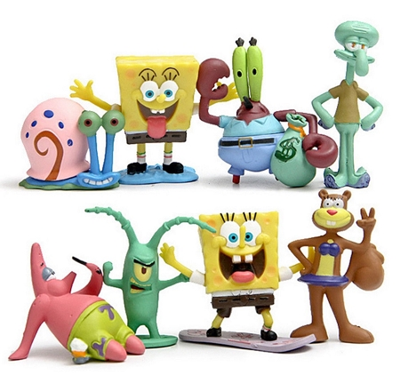 Spongebob Squarepants CAKE TOPPER Patrick Star Squidward Playset 8 Figure Birthday Party Cupcakes Figurines * FAST SHIPPING * Toy Doll Set