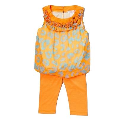 New Quot Chiffon Leopard Orange Quot Capri Pants Girls 3t Spring