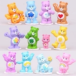 Care Bears CAKE TOPPER Carebears Love-a-Lot Cheer Wish Tenderheart 12 Figure Set Birthday Party Cupcakes Mini Figurines * FAST Shipping * Toy Doll Set