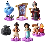 Aladdin CAKE TOPPER  Jasmine Genie Jafar Abu 8 Figure Set Birthday Party Cupcakes Figurines Disney * FAST Shipping * Toy Doll Set