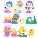 12pc Bubble Guppies Molly Gil Playset 12 Figure Set Birthday Party Cupcakes Figurines Nick Jr. * Fast Shipping * Toy Doll Set Goby Deema Mr. Grouper