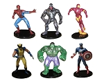 Avengers & Spiderman CAKE TOPPER Hulk Captain America Iron Man 6 Figure Set Birthday Party Cupcakes Mini Figurines * FAST Shipping * Toy Doll Set