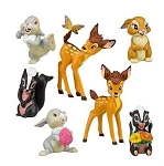 Bambi CAKE TOPPER Thumper Flower 7 Figure Set Birthday Party Cupcakes Figurines Disney * FAST Shipping * Deer Bunny Skunk Toy Doll Set