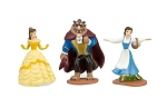3pc Beauty & The Beast CAKE TOPPER Belle Prince Beast 3 Figure Set Birthday Party Cupcakes Figurines Disney * FAST Shipping * Toy Doll Set