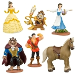 6pc Beauty & The Beast CAKE TOPPER Belle Prince Beast 6 Figure Set Birthday Party Cupcakes Figurines Disney * FAST Shipping * Toy Doll Set