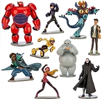 Big Hero 6 CAKE TOPPER Baymax Hiro Tadashi 9 Figure Set Birthday Party Cupcakes Figurines Disney * FAST Shipping * Toy Doll Set