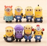 Despicable Me 2 CAKE TOPPER Minions 8 Figure Set Birthday Party Cupcakes Figurines Disney * FAST Shipping * 2 inch figures Toy Doll Set